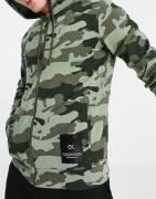 Calvin Klein Sport - Hættetrøje med gennemgående lynlås-Grøn
