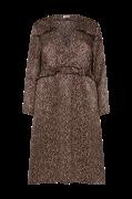 Leopardmønstret, A-formet slå om-kjole