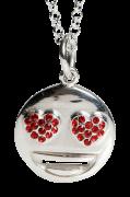 Halskæde Silver Emoji Heart Eye