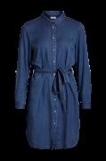 Kjole viBista Denim Belt Dress