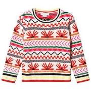 Stella McCartney Kids Graphic Hedgehog Knit Sweater Cream/Multi 3 years